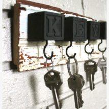 Diy Key Holders 7 214x214 - 40+ The Most Adorable Diy Key Holder ideas