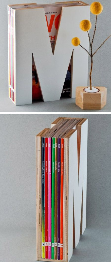 Diy Magazine Holders 15 - 40+ Awesome DIY Magazine Holders