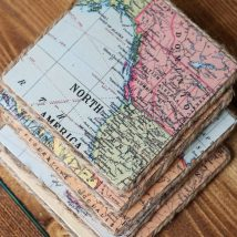 Diy Map Crafts 1 214x214 - Amazing DIY Map Crafts Ideas for everyone