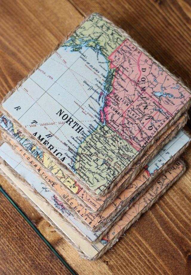 Diy Map Crafts 1 - Amazing DIY Map Crafts Ideas For Everyone