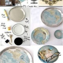 Diy Map Crafts 2 214x214 - Amazing DIY Map Crafts Ideas for everyone