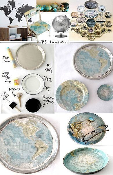 Diy Map Crafts 2 - Amazing DIY Map Crafts Ideas For Everyone