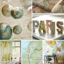 Diy Map Crafts 33 214x214 - Amazing DIY Map Crafts Ideas for everyone