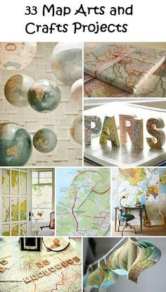 Diy Map Crafts 33 - Amazing DIY Map Crafts Ideas For Everyone