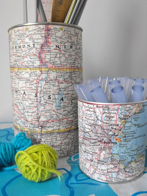 Diy Map Crafts 34 - Amazing DIY Map Crafts Ideas For Everyone