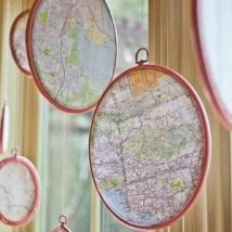 Diy Map Crafts 44 214x214 - Amazing DIY Map Crafts Ideas for everyone