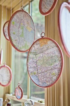 Diy Map Crafts 44 - Amazing DIY Map Crafts Ideas For Everyone