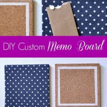 Diy Memo Board 46 214x214 - Coolest DIY Memo Board Ideas