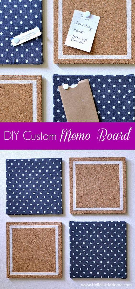 Diy Memo Board 46 - Coolest DIY Memo Board Ideas