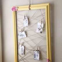 Diy Memo Board 47 214x214 - Coolest DIY Memo Board Ideas