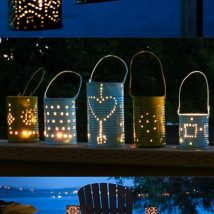 Diy Outdoor Lights 24 214x214 - 45+ Gorgeous and Easy DIY Outdoor Lighting Ideas