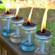 Diy Outdoor Lights 28 214x214 - 45+ Gorgeous and Easy DIY Outdoor Lighting Ideas