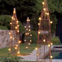 Diy Outdoor Lights 39 214x214 - 45+ Gorgeous and Easy DIY Outdoor Lighting Ideas
