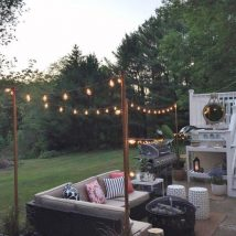 Diy Outdoor Lights 46 214x214 - 45+ Gorgeous and Easy DIY Outdoor Lighting Ideas