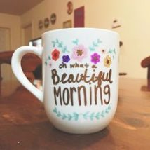 Diy Painted Mugs 10 214x214 - Top DIY Painted Mugs Ideas