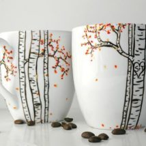 Diy Painted Mugs 12 214x214 - Top DIY Painted Mugs Ideas