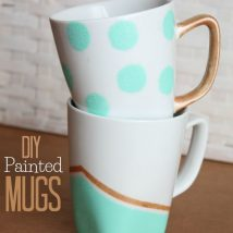 Diy Painted Mugs 25 214x214 - Top DIY Painted Mugs Ideas
