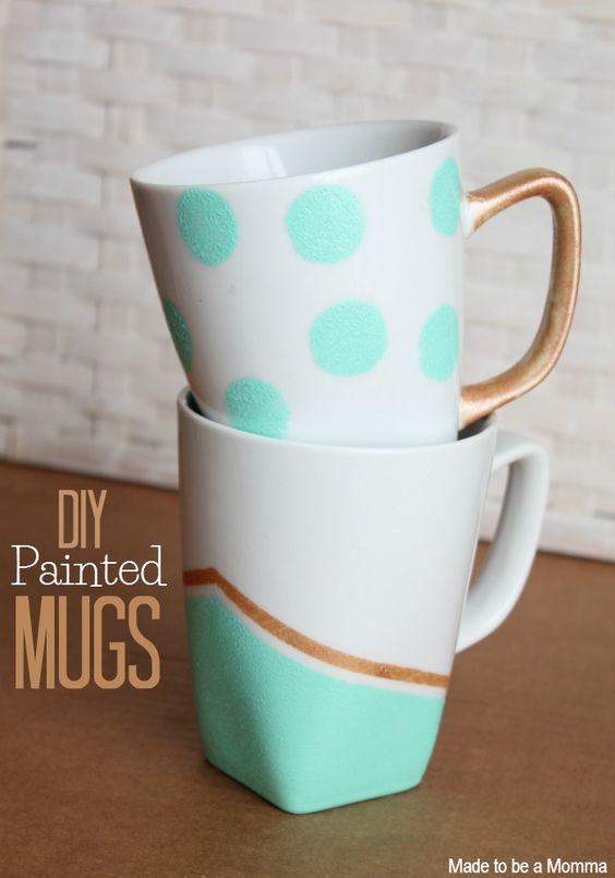 Diy Painted Mugs 25 - Top DIY Painted Mugs Ideas