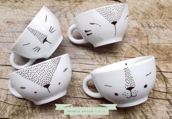 Diy Painted Mugs 27 - Top DIY Painted Mugs Ideas