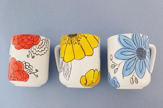 Diy Painted Mugs 28 - Top DIY Painted Mugs Ideas