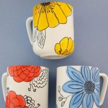 Diy Painted Mugs 3 214x214 - Top DIY Painted Mugs Ideas