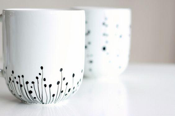 Diy Painted Mugs 31 - Top DIY Painted Mugs Ideas