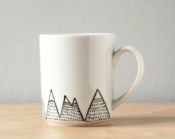 Diy Painted Mugs 33 - Top DIY Painted Mugs Ideas