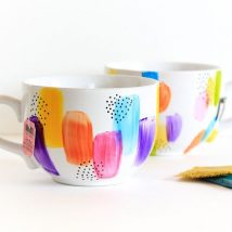 Diy Painted Mugs 34 214x214 - Top DIY Painted Mugs Ideas