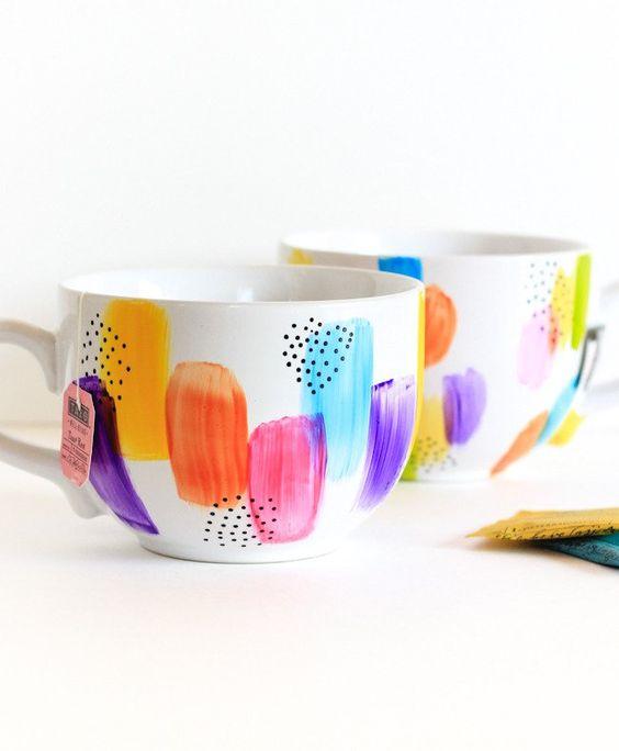 Diy Painted Mugs 34 - Top DIY Painted Mugs Ideas