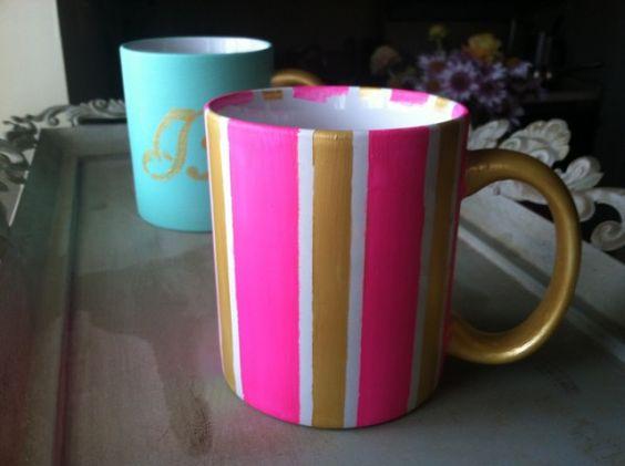 Diy Painted Mugs 35 - Top DIY Painted Mugs Ideas