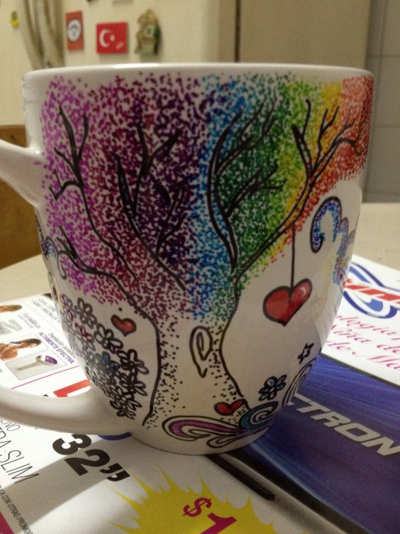 Diy Painted Mugs 40 - Top DIY Painted Mugs Ideas