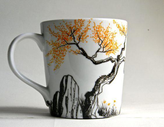 Diy Painted Mugs 41 - Top DIY Painted Mugs Ideas