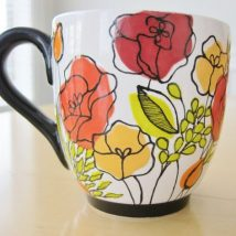 Diy Painted Mugs 48 214x214 - Top DIY Painted Mugs Ideas