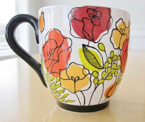 Diy Painted Mugs 48 - Top DIY Painted Mugs Ideas