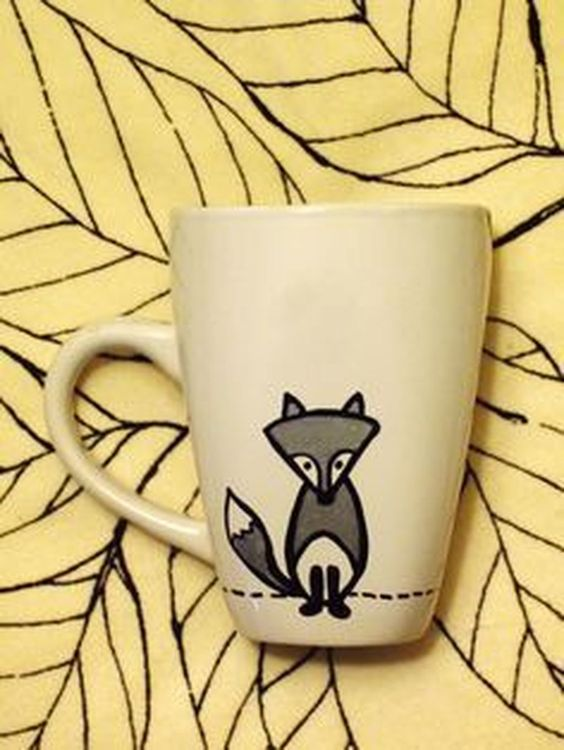 Diy Painted Mugs 51 - Top DIY Painted Mugs Ideas