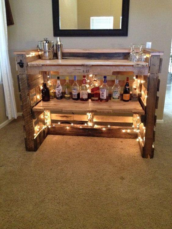 Diy Pallet Bar 1 - 50+ DIY Ideas For Wood Pallet Bars