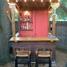 Diy Pallet Bar 11 214x214 - 50+ DIY Ideas for Wood Pallet Bars