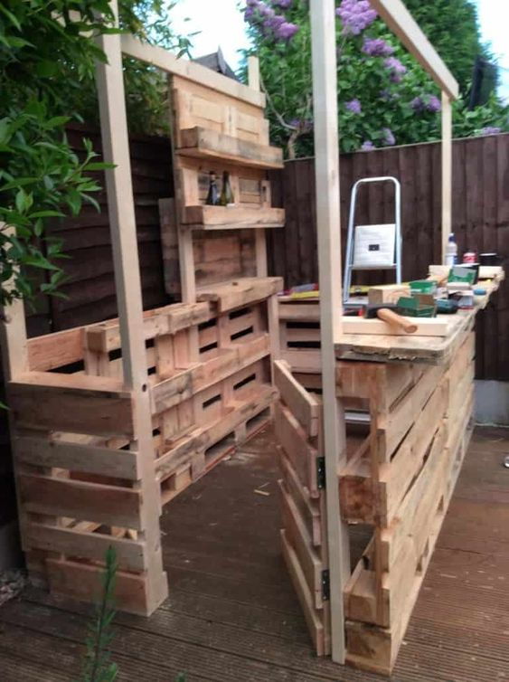 Diy Pallet Bar 14 - 50+ DIY Ideas For Wood Pallet Bars