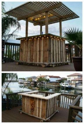 Diy Pallet Bar 25 - 50+ DIY Ideas For Wood Pallet Bars