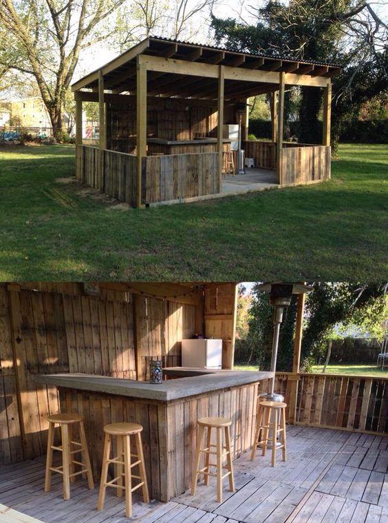 Diy Pallet Bar 28 - 50+ DIY Ideas For Wood Pallet Bars