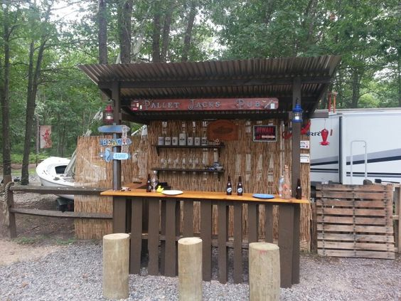 Diy Pallet Bar 30 - 50+ DIY Ideas For Wood Pallet Bars