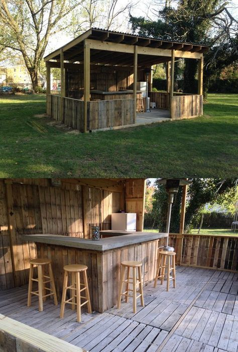 Diy Pallet Bar 32 - 50+ DIY Ideas For Wood Pallet Bars