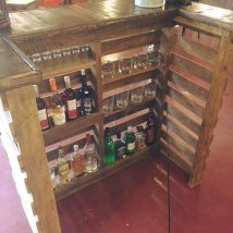 Diy Pallet Bar 34 214x214 - 50+ DIY Ideas for Wood Pallet Bars