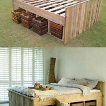 Diy Pallet Bed 55 214x214 - Amazing DIY Pallet Bed Ideas