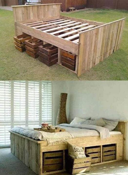 Diy Pallet Bed 55 - Amazing DIY Pallet Bed Ideas