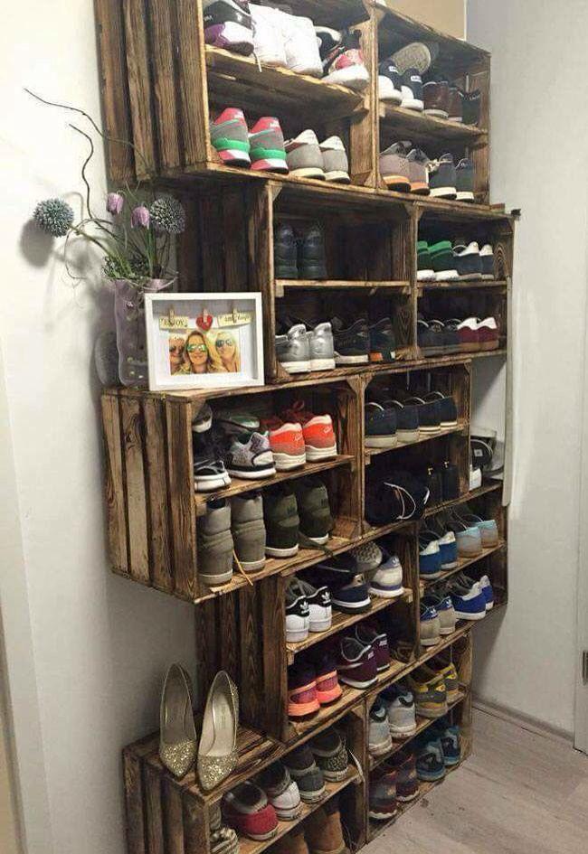 Diy Pallet Organizer 39 - 45+ DIY Project Garage Storage And Organization Use A Pallet