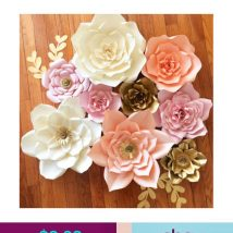 Diy Paper Flowers 17 214x214 - Coolest DIY Paper Flowers for Anyone
