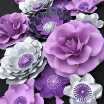 Diy Paper Flowers 2 214x214 - Coolest DIY Paper Flowers for Anyone