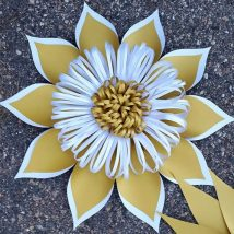 Diy Paper Flowers 32 214x214 - Coolest DIY Paper Flowers for Anyone