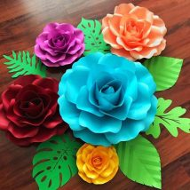 Diy Paper Flowers 44 214x214 - Coolest DIY Paper Flowers for Anyone